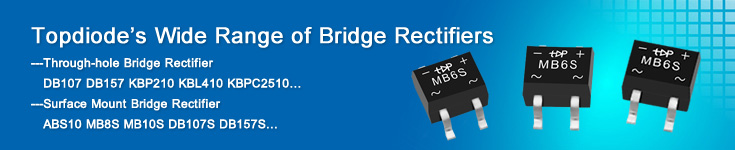 Topdiode bridge rectifiers MB2S MB6S MB8S MB10S
